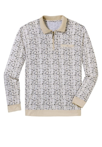 Poloshirt mit feinem, grafischen Druck kaufen