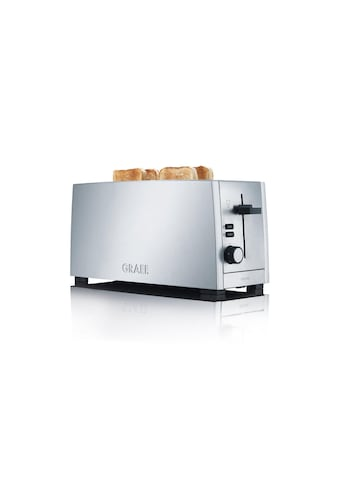 Toaster, Silberfarben, Graef, »TO 100« kaufen