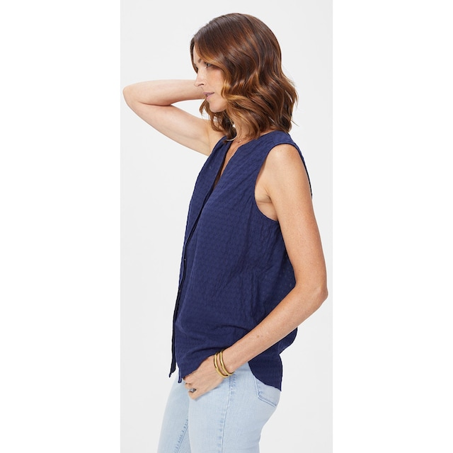 NYDJ Sleeveless Pintuck Blouse