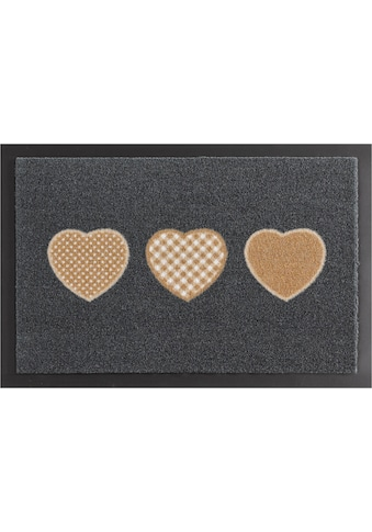 HANSE Home Fussmatte »Three Hearts«, rechteckig, 7 mm Höhe, Schmutzfangmatte,... kaufen