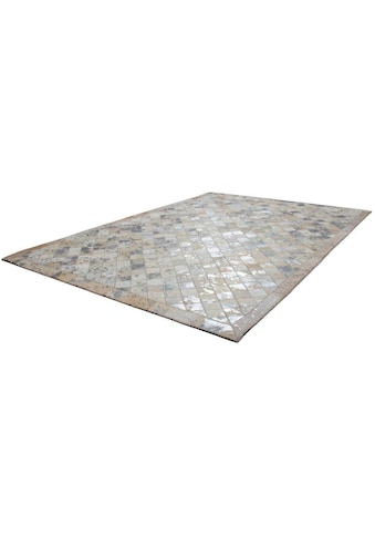 Kayoom Lederteppich »Lavish 210«, rechteckig, 8 mm Höhe, Patchwork-echtes Leder-Fell,... kaufen