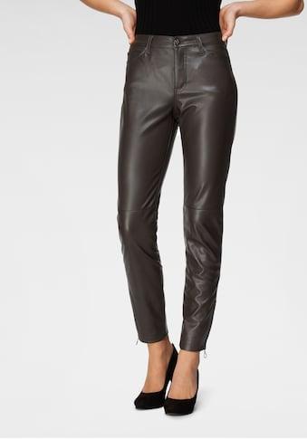 MAC 7/8-Jeans »Slim leather zip«, Lederimitat mit typischen Teilungsnähten kaufen