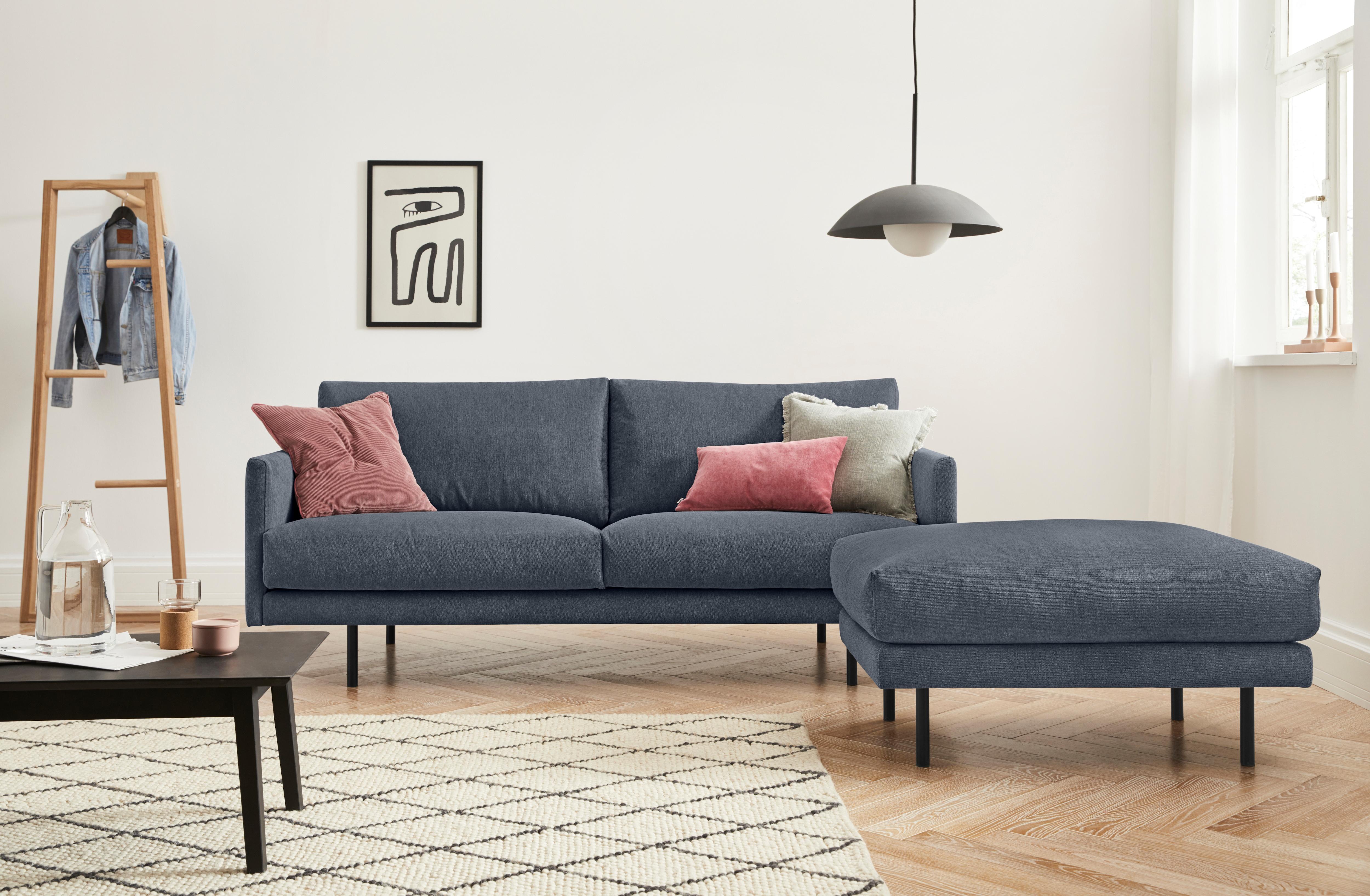 Image of andas 2,5-Sitzer »Addison«, mit schwarzen Metallfüssen