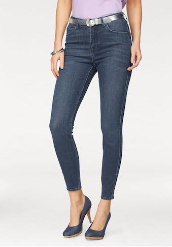 Lee® Slim-fit-Jeans »Scarlett«, High Waist mit Zipper am Saum kaufen