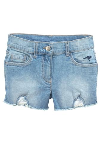 KangaROOS Jeansshorts, mit kleiner Logostickerei kaufen