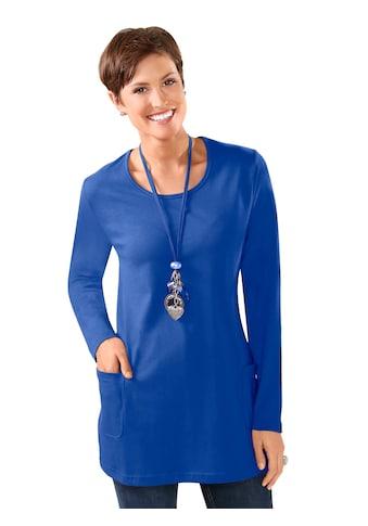 Classic Basics Longshirt mit Rundhals - Ausschnitt kaufen