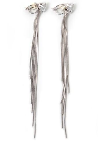 J.Jayz Paar Ohrclips »mehrreihig, edel, feminin«, mit Glassteinen kaufen