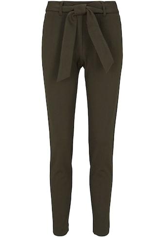 TOM TAILOR Bundfaltenhose, (mit Bindegürtel), im Jogg-Pant Stil mit Bindegürtel kaufen