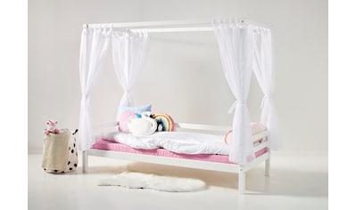 Hoppekids Himmelbett »BASIC« (3 Teile, Bett, Himmeltextil und Wimpelkette) kaufen