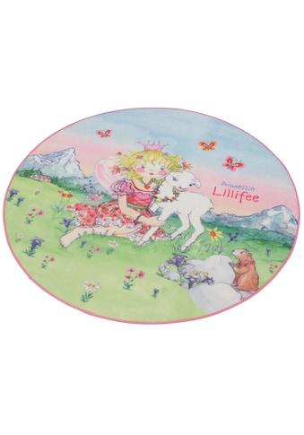 Prinzessin Lillifee Kinderteppich »LI-102«, rund, 2 mm Höhe, Druckteppich, Kinderzimmer kaufen