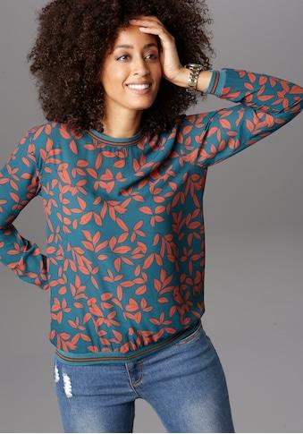 Aniston SELECTED Shirtbluse, mit sportiven Bündchen kaufen