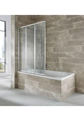 WELLTIME Badewannenaufsatz »Nassau«, 3 - tlg., silberfarben kaufen