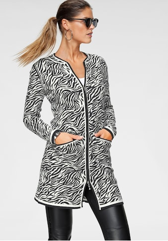 Bruno Banani Longstrickjacke, im Animal - Look mit Zebra Design kaufen