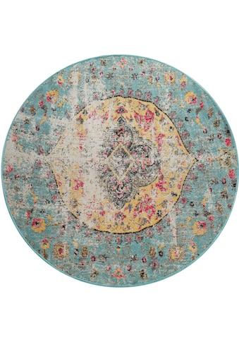 Teppich, »Artigo 401«, Paco Home, rund, Höhe 4 mm, maschinell gewebt kaufen