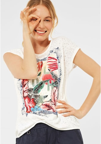 Cecil T-Shirt, mit Burnout-Optik kaufen