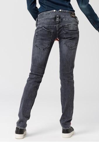 Herrlicher Röhrenjeans »PITCH SLIM«, Low Waist Powerstretch-Jeans mit sportiven roten Galon-Streifen kaufen