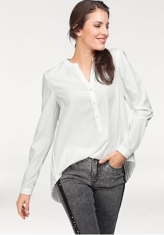 Aniston SELECTED Hemdbluse, mit Plisseefalten im Rückenteil kaufen