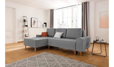 my home Ecksofa »Samu«, wahlweise mit Bettfunktion und Bettkasten kaufen