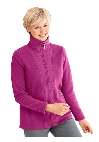 Casual Looks Fleece - Jacke mit Wiener Nähte vorne kaufen