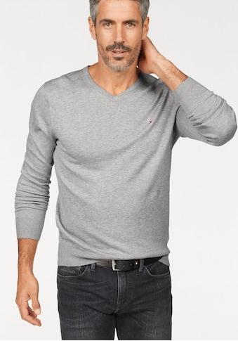 TOMMY HILFIGER V - Ausschnitt - Pullover »CORE COTTON SILK V - NK« kaufen