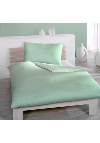 HOME FASHION Bettwäsche »Soft One, Satin  (2tlg.)«, mit schönem Farbverlauf von dunkel... kaufen