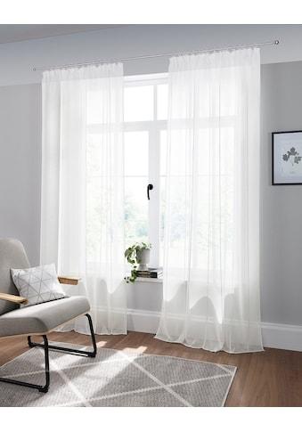 andas Vorhang »Visby«, monochrom mit Effektgarn, halbtransparent, pflegeleicht kaufen