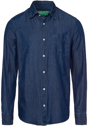 United Colors of Benetton Langarmhemd, in Jeans-Optik kaufen