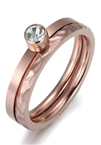 Firetti Ring - Set »4,00 mm, glänzend und matt, teilweise strukturiert, einzeln tragbar« (Set, 2 tlg.) kaufen