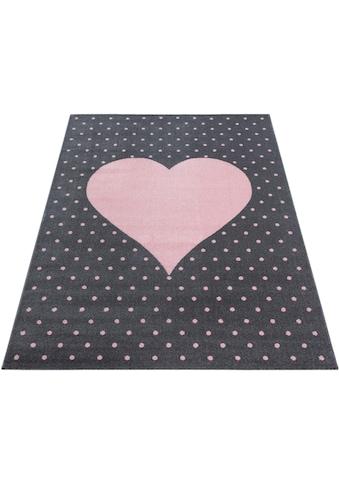 Ayyildiz Kinderteppich »Bambi 830«, rechteckig, 11 mm Höhe, Herz Motiv, Kurzflor kaufen