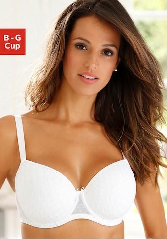 LASCANA Schalen-BH, mit flacher Spitze über nahtlosen Cups, auf Formbügel gearbeitet kaufen