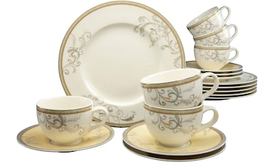 "CreaTable Kaffeeservice ""Villa Medici"" (18 - tlg.), Porzellan kaufen"